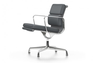 Vitra - Aluminium Chair Soft Pad EA 207/208 (sedia) - Charles & Ray Eames, 1958