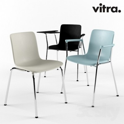 Vitra - HAL Tube Armest & Writing Tablet (sedia) - Jasper Morrison, 2010/2014
