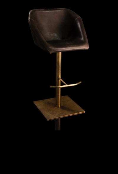 HENGE - HEXAGON SWIVEL STOOL, sgabello - Massimo Castagna