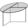 TLR1 Tavolino tondo - top in vetro - 580,00€