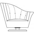 ARABELLA - poltrona con bracciolo destro e cuscino