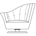 ARABELLA - poltrona con bracciolo sinistro e cuscino