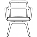 BARON - schienale basso seduta girevole
