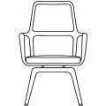 BARON - schienale alto seduta girevole