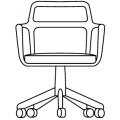 BARON - schienale basso con ruote