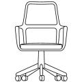 BARON - schienale alto con ruote