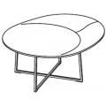 TNR1 - tavolino ø 600 H 320 - 984,00€