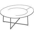 TNR3 - tavolino ø 950 H 400 - 1.102,00€