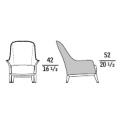 NORMAL - poltrona schienale alto e cuscino (rivestimento esterno pelle)
