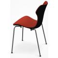SH1I Sedia (base acciaio) con sedile e schienale imbottiti