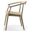 JENS SJ61L - sedia L cm61 con braccioli in essenze