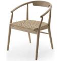 JENS SJ61PA - sedia L cm61 con braccioli, seduta intreccio