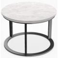 MTR39B - tavolino rotondo cm Ø 39 (piano in marmo bianco Carrara)