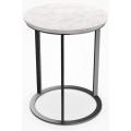 MTR39A - tavolino rotondo cm Ø 39 (piano in marmo bianco Carrara)