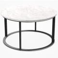 MTR60 - tavolino rotondo cm Ø 60 (piano in marmo bianco Carrara)