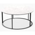 MTR90 - tavolino rotondo cm Ø 90 (piano in marmo bianco Carrara)