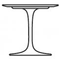 Tavolo ovale basso: H cm 39, L cm 70, P cm 107