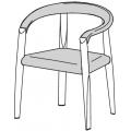 MSE1 - seduta e bracciolo imbottiti e rivestiti in pelle - 1.617,00€