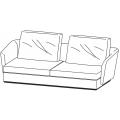 SLOANE DI232A - divano L 2320 P 1040 H 900