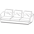 SLOANE DI272A - divano L 2720 P 1040 H 900