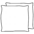 Coppia cuscini aggiuntivi L 500 H 500 - tessuto - 363,00€