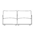 ADAM 001 (divano due posti): cm 170 x 100 x h84