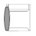 Accessorio per bracciolo/tavolino destro