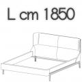 FULHAM letto FLE17A - L 1850 H 1040 P 2250