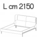 FULHAM letto FLE20A - L 2150 H 1040 P 2300