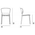 PLY - sedia in propilene senza braccioli - 266,00€