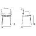 PLY - sedia in propilene con braccioli - 340,00€