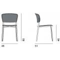 PLY - sedia rivestita senza braccioli