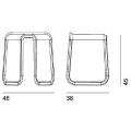 MYG - sgabello in poliuretano H cm 45 - 298,00€