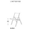 D.270.1 - sedia L 540 P 630 H 830