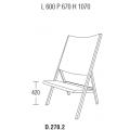 D.270.2 - sedia L 600 P 670 H 1070