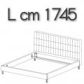 ANTON letto ALE16 - L 1745 H 1050 P 2220