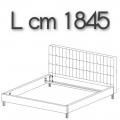 ANTON letto ALE17 - L 1845 H 1050 P 2220
