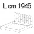 ANTON letto ALE18 - L 1945 H 1050 P 2220