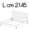 ANTON letto ALE20 - L 2145 H 1050 P 2220