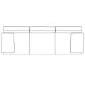 D277B_P divano struttura spazzolata lucida