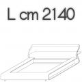 CLIP letto CM18 - L 2140 H 790 P 2530
