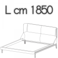 FULHAM letto FLE17B - L 1850 H 1040 P 2250
