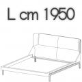 FULHAM letto FLE18B - L 1950 H 1040 P 2250