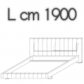 HIGH-WAVE letto HW17 - L 1900 H 1040 P 2200