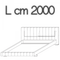 HIGH-WAVE letto HW18 - L 2000 H 1040 P 2200