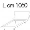 HONEY letto singolo HLE10 - L 1060 H 960 P 2200