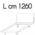 HONEY letto singolo HLE12 - L 1260 H 960 P 2200