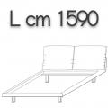 HONEY letto HLEQS doppia piazza - L 1590 H 960 P 2250