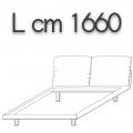 HONEY letto HLE16 doppia piazza - L 1660 H 960 P 2200