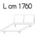 HONEY letto HLE17 doppia piazza - L 1760 H 960 P 2200